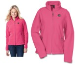 Ladies Crossland Fleece Jacket - Pink - Size M (490-9817M)