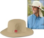 Wide Brim Hat with Sun Flap - Size L - XL (490-9822LXL)