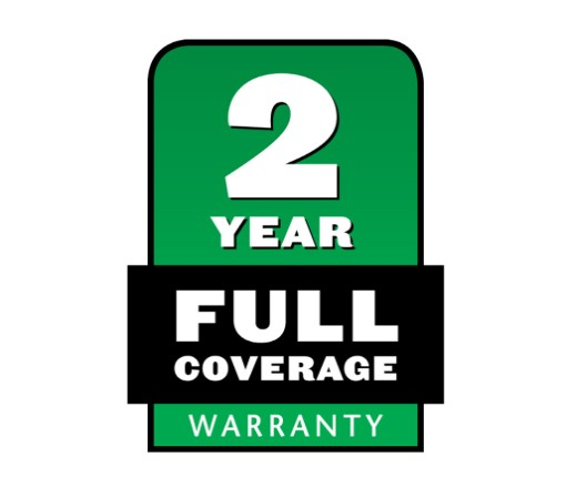 2 Year Full Coverage Warranty