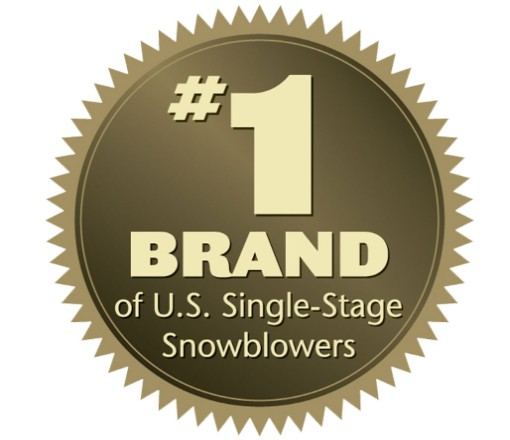 #1 Brand of U.S. Single-Stage Snowblowers