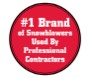 #1 Brand of Snowblowers used by Professional Contractors